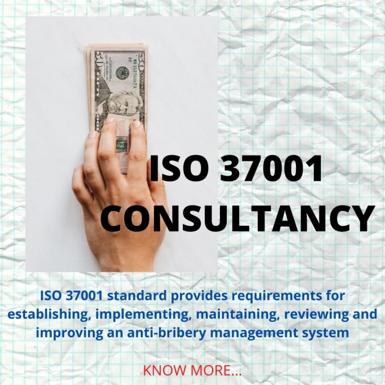 ISO 37001 CONSULTANCY POSTER